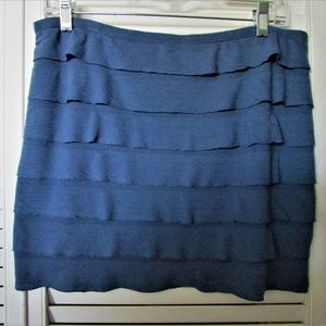 Studio M dusty blue skirt petite large
